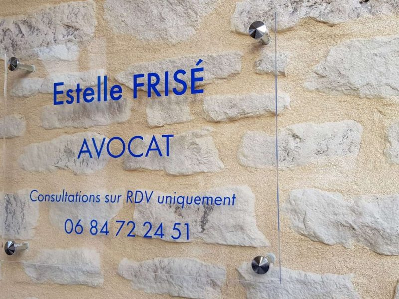 Plaque Estelle Frisé Avocat